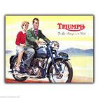 TRIUMPH Motocicletas Motos Retro vintage Anuncio Letrero Metal Placa de pared