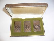 1976 OLYMPIC GAMES MONTREAL CANADA Canada Post Bronze Stamp Sculpture Set & case