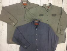 Long Sleeve Shirts Men's Work Uniform 12PACK- Free Shipping .