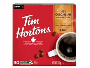 Tim Hortons Keurig Single Serve K Cups Coffee Canada COLOMBIAN BLEND - Box of 30