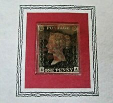 """Great Britain GB """"PENNY BLACK ~ THE WORLD'S FIRST STAMP"""" FU Stamp in Pres Album"""