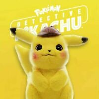 Stofftier Detektiv Pikachu Pokemon Plüsch Plüschtiere Kuscheltier Figu Film 28CM