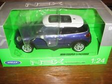 BY WELLY DIECAST - MINI COOPER S PACEMAN - IN BLUE & WHITE - 1:24 Scale