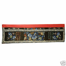 ANTIQUE CHINESE CHINA MANDARIN QING SILK EMBROIDERY ALTAR FRONTAL TEXTILE 19C