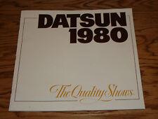 Original 1980 Datsun Passenger Cars Deluxe Sales Brochure 80 280 ZX 200 SX