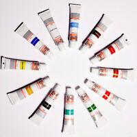NEU 12 teiliges professionelles Acrylfarben Set Malfarben Farben 12 ml Tube