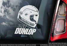 Joey Dunlop - Car Window Sticker - HELMET Isle of Man TT#3 Superbike - TYP3