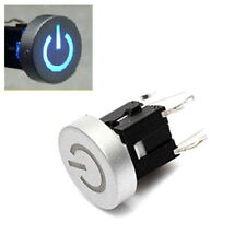 1pc 12V Blue Led Dia 10mm Cap Light Power 12V Momentary Tact Push Button Switch