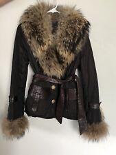 Unique Female Winter Fall Crystal Fox Fur Modern Design Italian Jacket