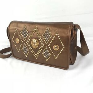 VTG BAGS BY PINKY Genuine Leather copper With Bag Purse Made in USA