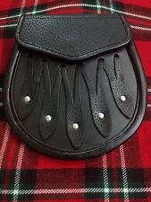 NUOVO GONNELLINO scozzese nero pelle / Abito da giorno borsa in pelo /