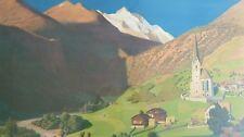 Vintage 1902 Hand signed A. Gluck German Landscape Art Antique Print - Germany