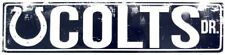 """INDIANAPOLIS COLTS STREET METAL 24 X 5.5"""" SIGN DRIVE NFL DR ROAD AVE DISTRESSED"""