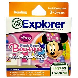 Leap Frog Minnie Mouse Bow-tique Super Surprise Party NEW SEALED - Leappad