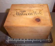 Vintage pharmacy meds Poareca Nut (ground) in beautiful box! fancy writing, nice