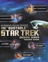 Star Trek The Original Series TOS Quotable Card Album
