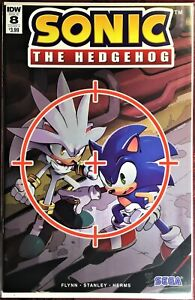 SONIC The HEDGEHOG Comic Book IDW #8-A August 2018 Silver Bagged Boarded MINT