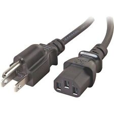NEW HannsG HW-220DPB LCD AC Power Cord Cable Plug Black