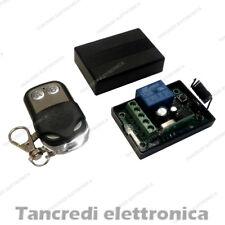 Scheda Ricevente Ricevitore 12V 433 Mhz 1 Relè Canale con Telecomando Centralina