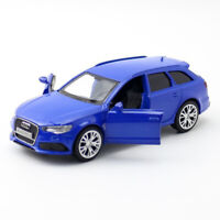 1:36 Audi RS 6 Avant Model Car Diecast Toy Vehicle Pull Back Blue Collection Kid
