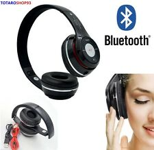 CUFFIE BLUETOOTH CUFFIA STEREO MICROFONO MP3 FM SLOT MICRO SD X IPHONE ANDROID
