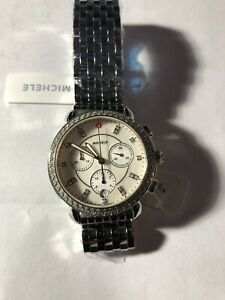 MICHELE Serein Chronograph Silver Dial Ladies Watch With Diamonds