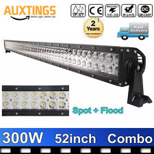 52inch 300W LED WORK LIGHT BAR Combo Spot Flood Beam Fog Lamp For Car ATV UTE
