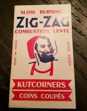 """Zig-Zag Vintage Kutcorners """"white cover""""  Cigarette Rolling Papers 100 Leaves."""