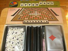 1981 Selchow & Righter Scrabble Brand UPPER HAND Game ~ Scrabble + Bridge Word