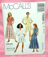 LADIES PRINCESS SEAM TOP PATTERN 4-20 FF UNCIRCULATED McCALL/'S #8814 8 STYLE