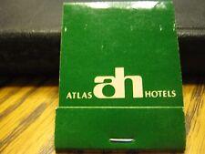 Vintage Atlas Hotels AH In San Diego Van Nuys Culver CityScottsdale AR Matchbook