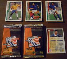LOTTO 16 CARD WORLD CUP USA '94 (Upper Deck) mondiali calcio bustine RARE!