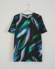 HOF115: COS Top lang muster baumwolle / Long printed t-shirt cotton XS