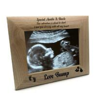New Baby Pregnancy Scan Wooden Photo Frame Auntie and Uncle Gift FW-25