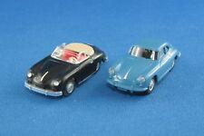 Sammlungsauflösung 2er-Set Wiking Porsche 356 A + C Cabrio / Coupé 1/87 1/90 H0