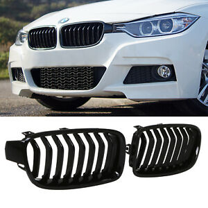 Fits Bmw 3 Series F30 Lci 2016-Front Bumper Grille With Hole Rh Right Drivers