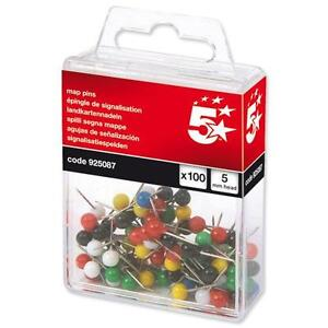 100   x Coloured Map Pins for Cork & Notice Boards 925087