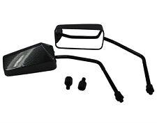 2x F1 Spiegel Set rechts / links - Carbon M8 Gewinde - Universal für Roller
