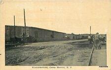 C-1918 Military Warehouse railroad Tracks Camp Merrick New Jersey postcard 2721