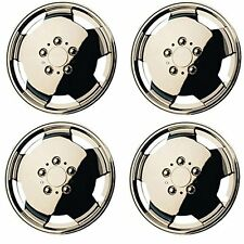 "4 Fiat Ducato Van Motorhome 15"" Wheel Trims Chrome Deep Dish Hub Caps Domed New"