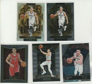 JEREMY LIN SELECT RAINBOW LOT (5) DIFF W 2016-17 COURTSIDE SILVER PRIZM SP #216