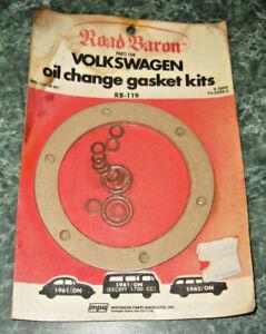 Vintage ROAD BARON Volkswagen Oil Change Gasket Kit VOLKSWAGEN 1961-76, NEW!!