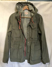 Gant Rugger Olive Green M-65 Military Overboard Field Jacket w/ Hood Mens Med