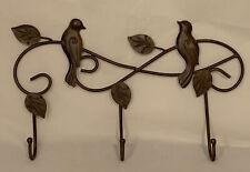 Metal Bird coat & Hat Hooks Wall Hanging