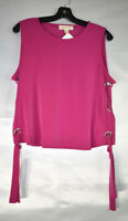 Michael Kors Women's Sleeveless Tie-Side Top - Blouse, Pink, Size L