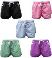 No Pattern Cotton Shorts Plus Size for Women