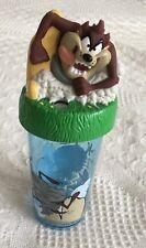 1996 Looney Tunes Taz Tasmanian Devil Plastic Cup Warner Bros Zak Designs