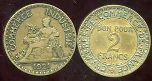 2 FRANCS  chambre de commerce 1921   ( bis )
