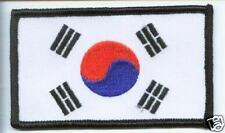 SOUTH KOREA OBLONG FLAG WORLD EMBROIDERED PATCH BADGE
