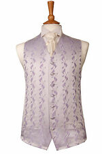 MENS AND PAGE BOYS LILAC & IVORY RIOJA WEDDING DRESS SUIT WAISTCOAT ALL SIZES